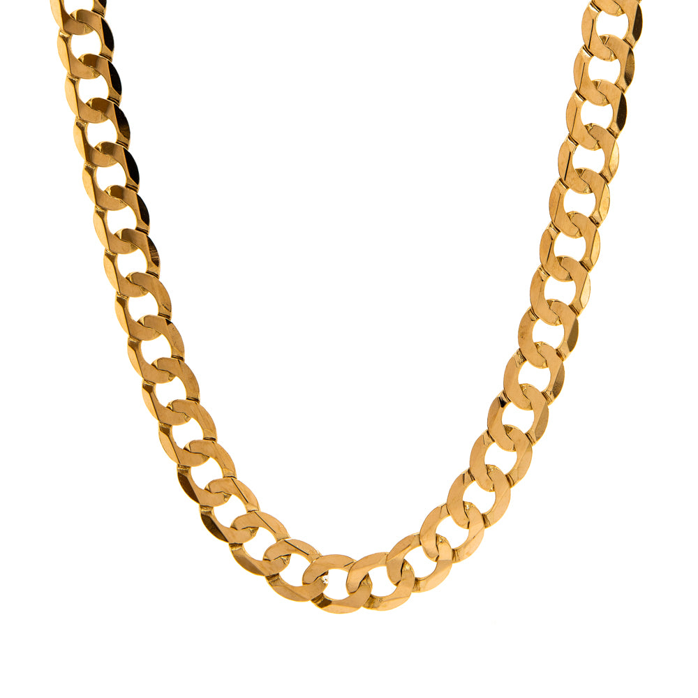 "Pre-Owned Gold 22"" Flat Round 9mm Curb Necklace"