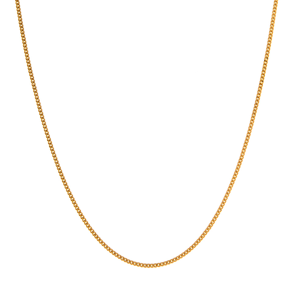 "Pre-Owned 9ct Gold 18"" Round 1mm Curb Necklace"
