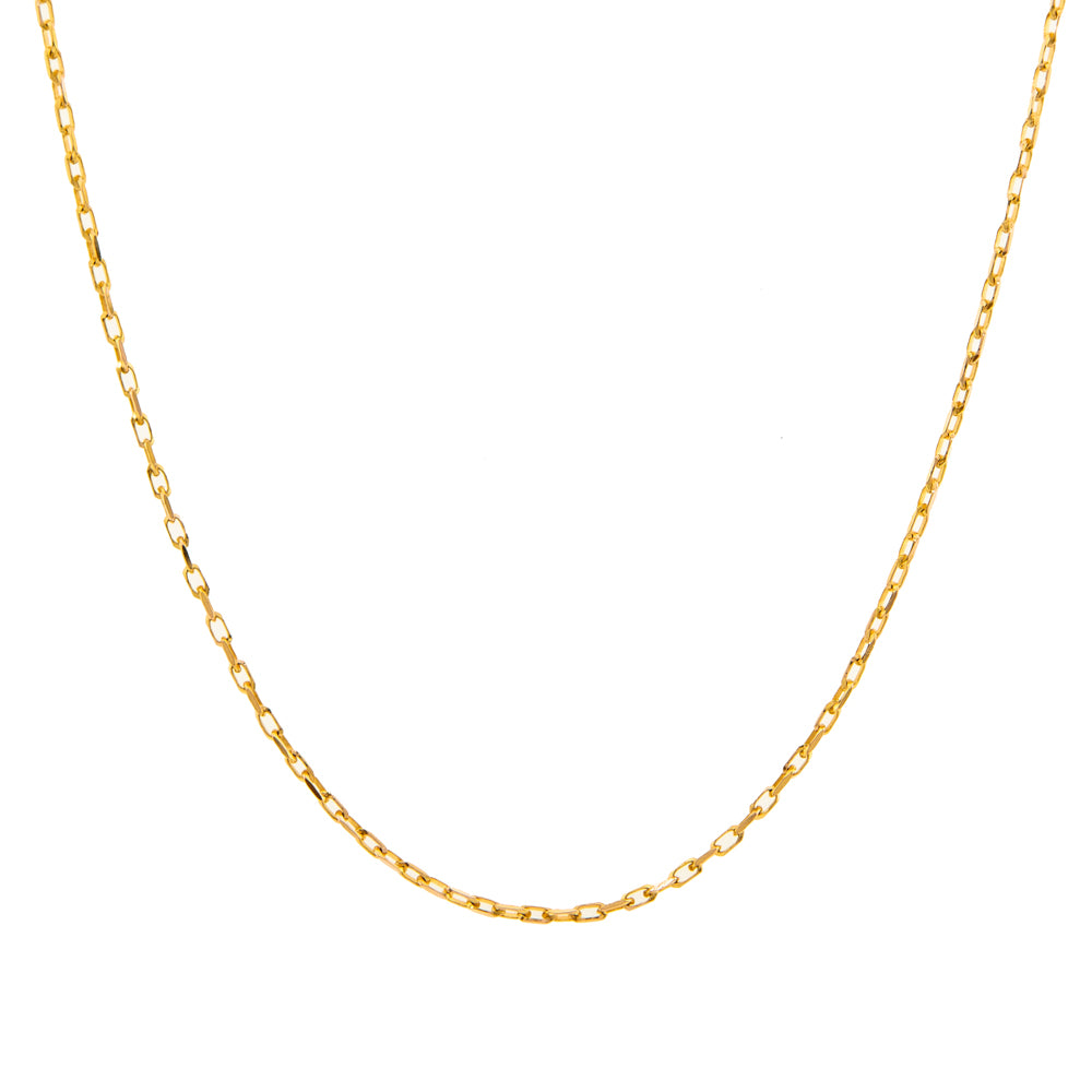 "Pre-Owned 9ct Gold 18"" 1mm Trace Necklace"