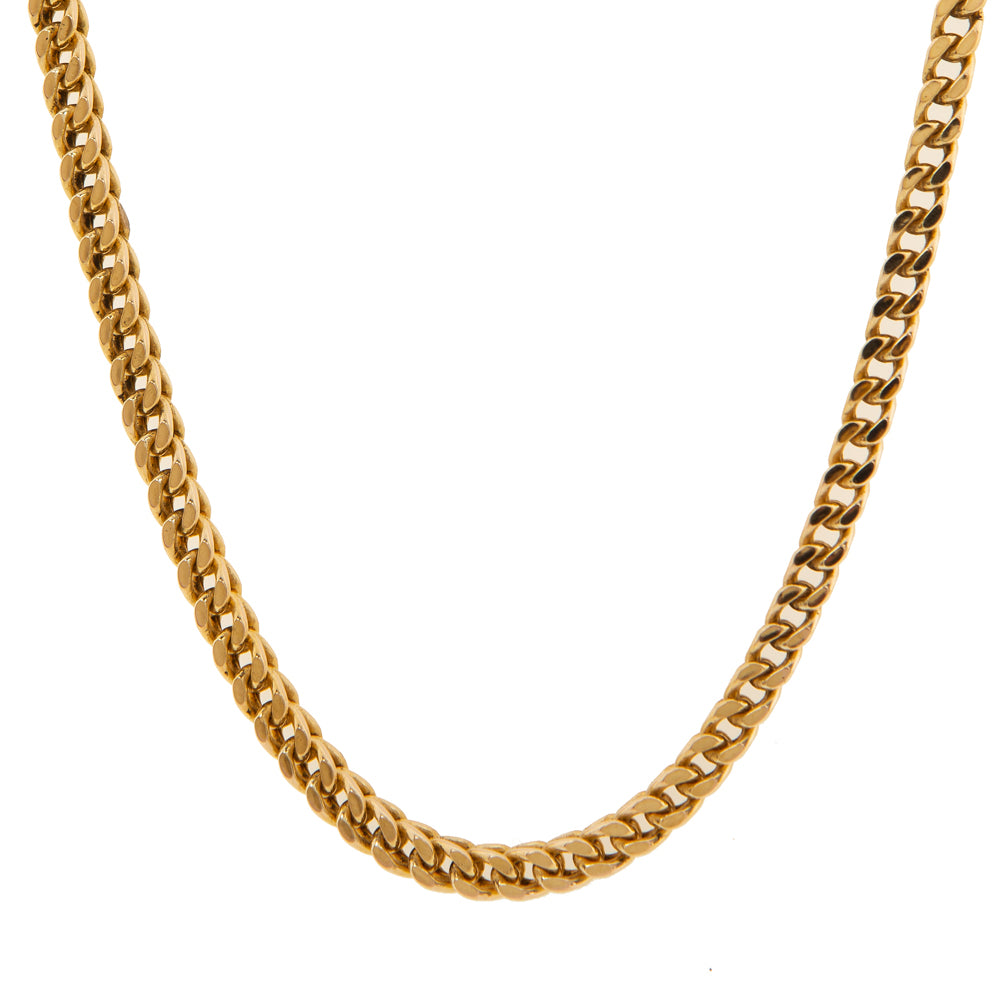 "Pre-Owned Gold 24"" Flat Round Double Curb Necklace"