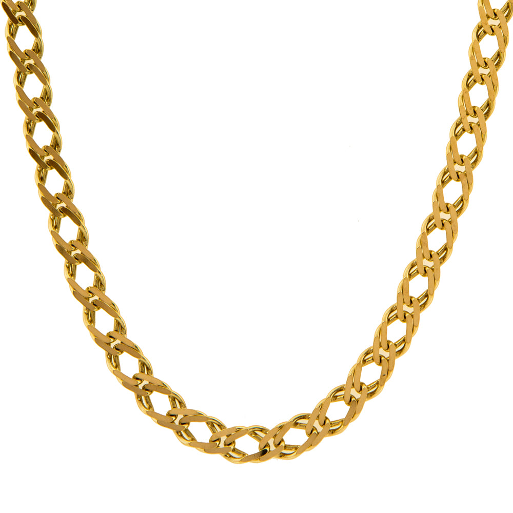 "Pre-Owned Gold 18"" Oval 5mm Double Curb Necklace"