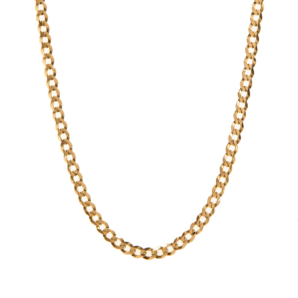 "Pre-Owned Gold 20"" Flat Round 4mm Curb Necklace"