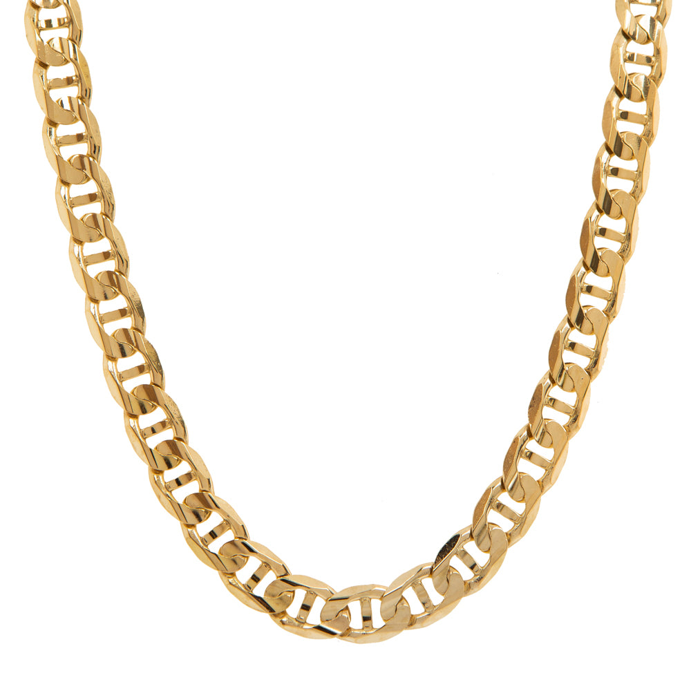 "Pre-Owned 9ct Gold 18"" 7mm Anchor Link Necklace"