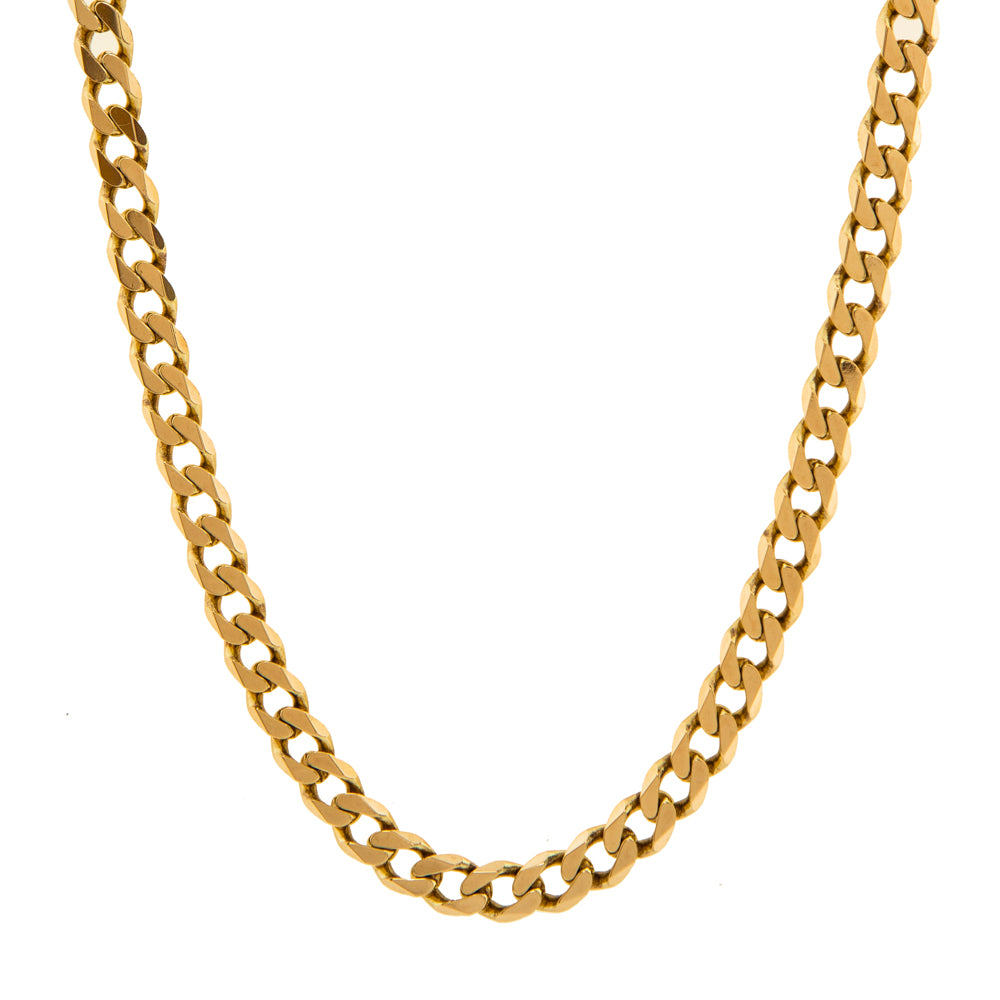 "Pre-Owned Gold 22"" Flat Round 5mm Curb Necklace"