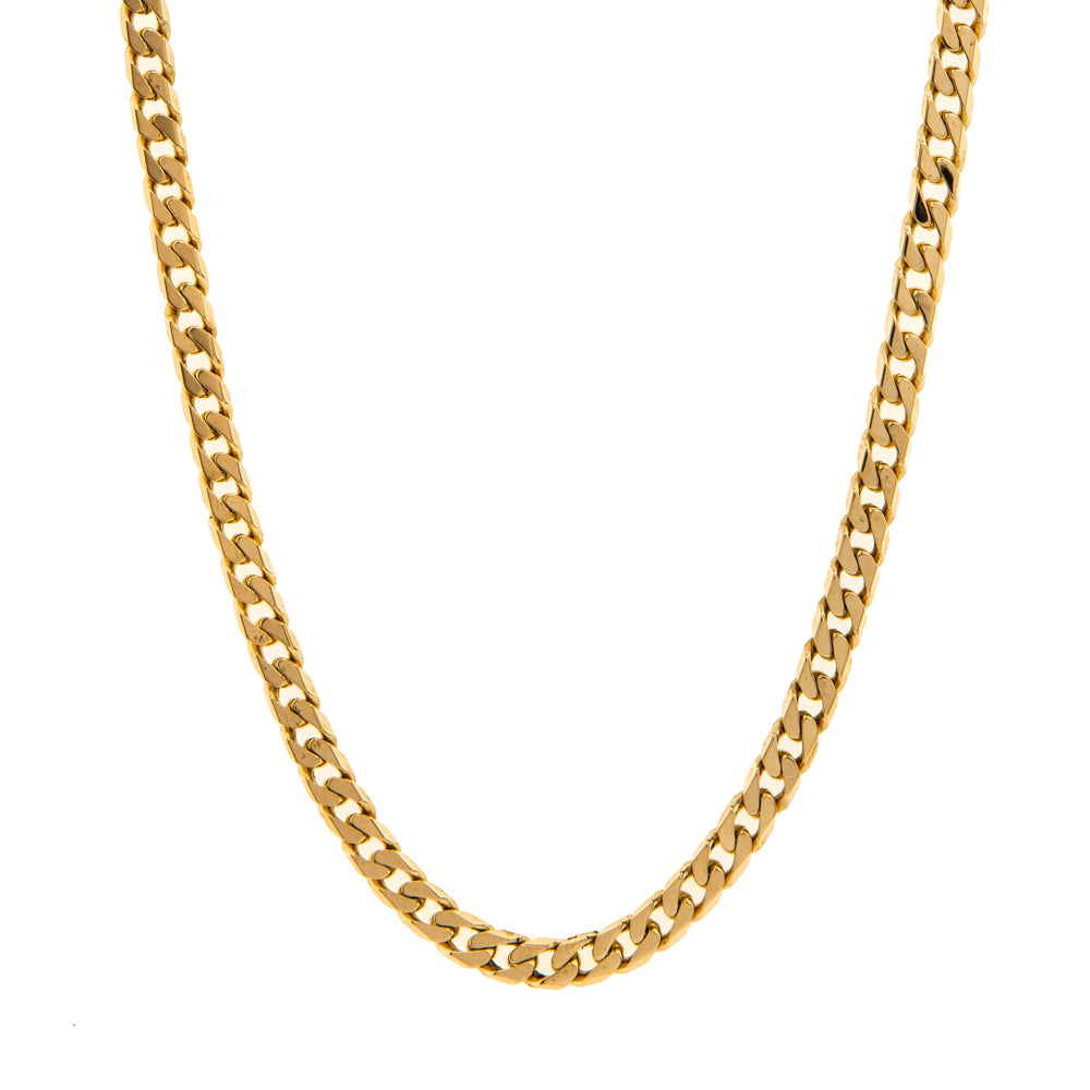 "Pre-Owned 9ct Gold 20"" Flat Oval 4mm Curb Necklace"