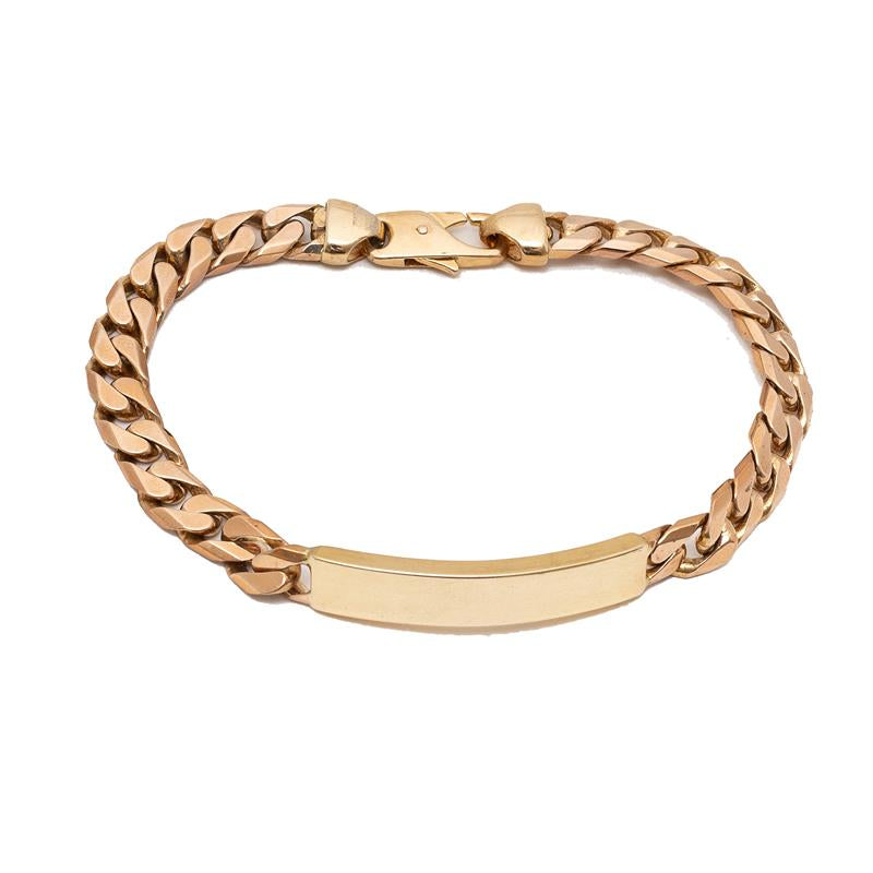Pre-Owned 9ct Gold Curb ID Bracelet