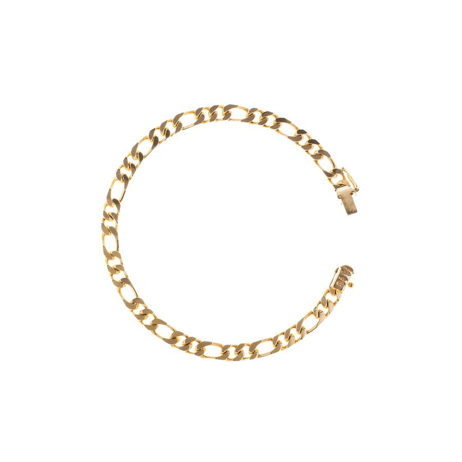 "Pre-Owned 9ct Gold 8"" 2+1 Figaro Bracelet"