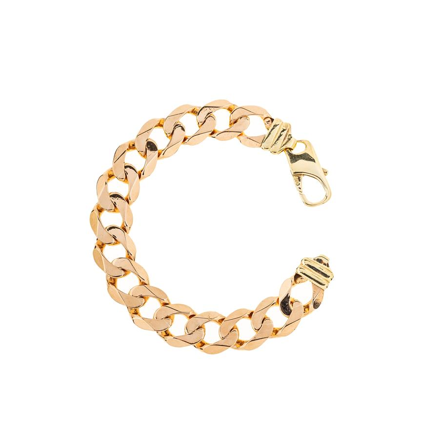 "Pre-Owned 9ct Gold Gents 9.5"" Curb Bracelet"