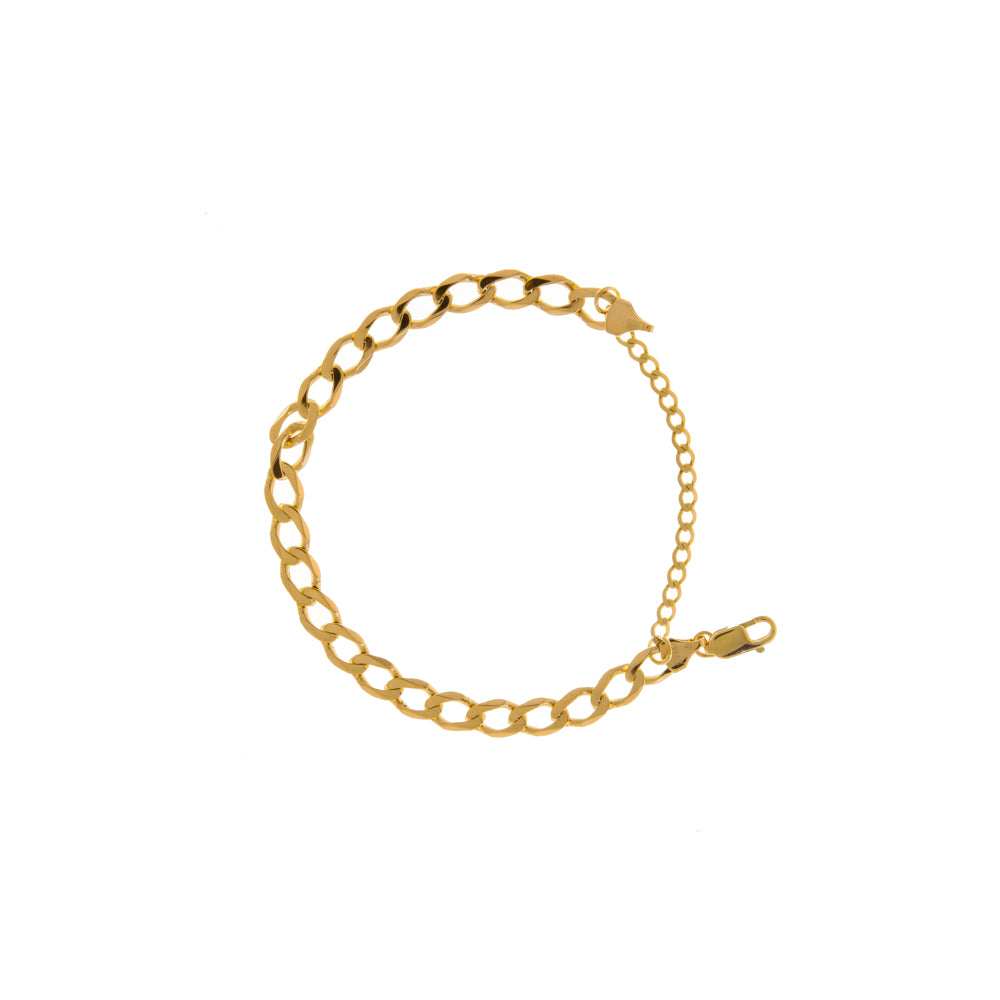 "Pre-Owned Gold 8"" Curb Bracelet With Safety Chain"