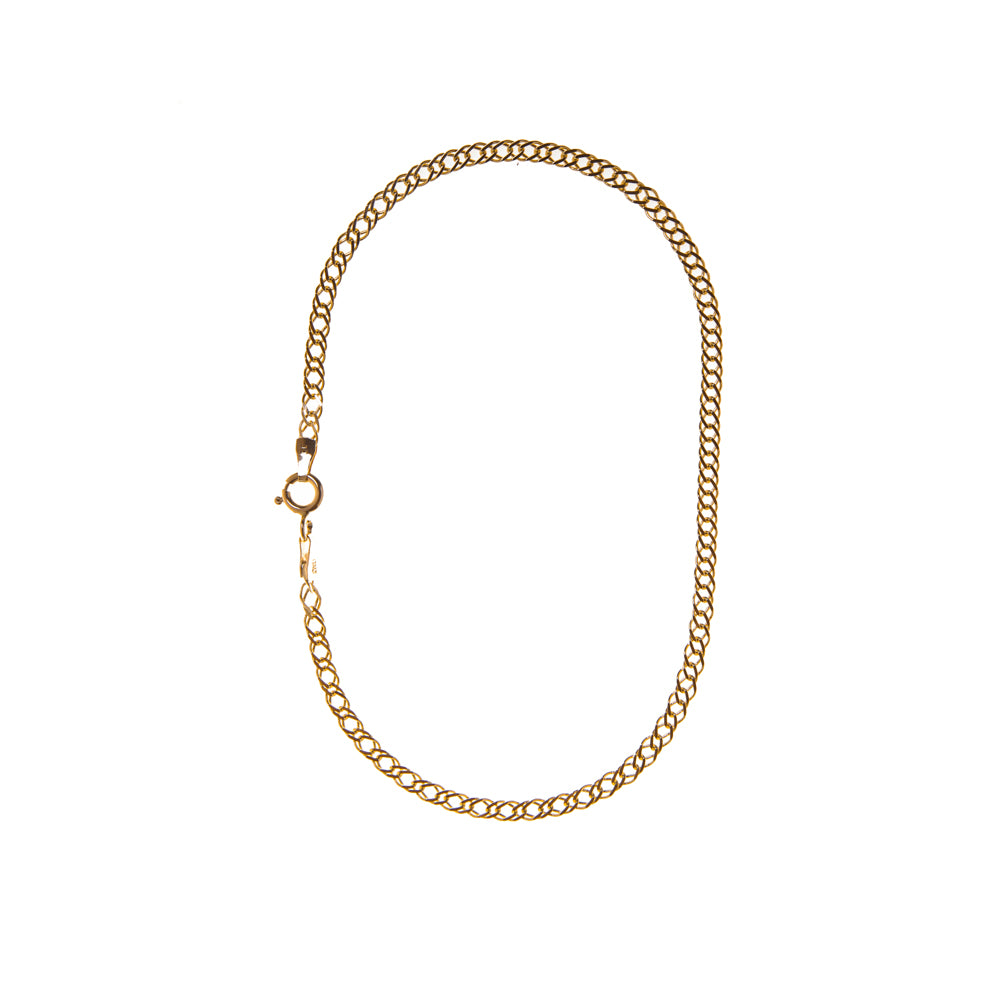 "Pre-Owned 9ct Gold 9"" Double Curb Anklet"