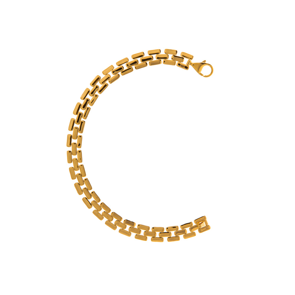 Pre-Owned 9ct Gold 7.5 7mm Brick Link Bracelet