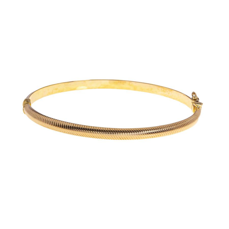 Pre-Owned Female Hollow Hinged Gold Bangle.