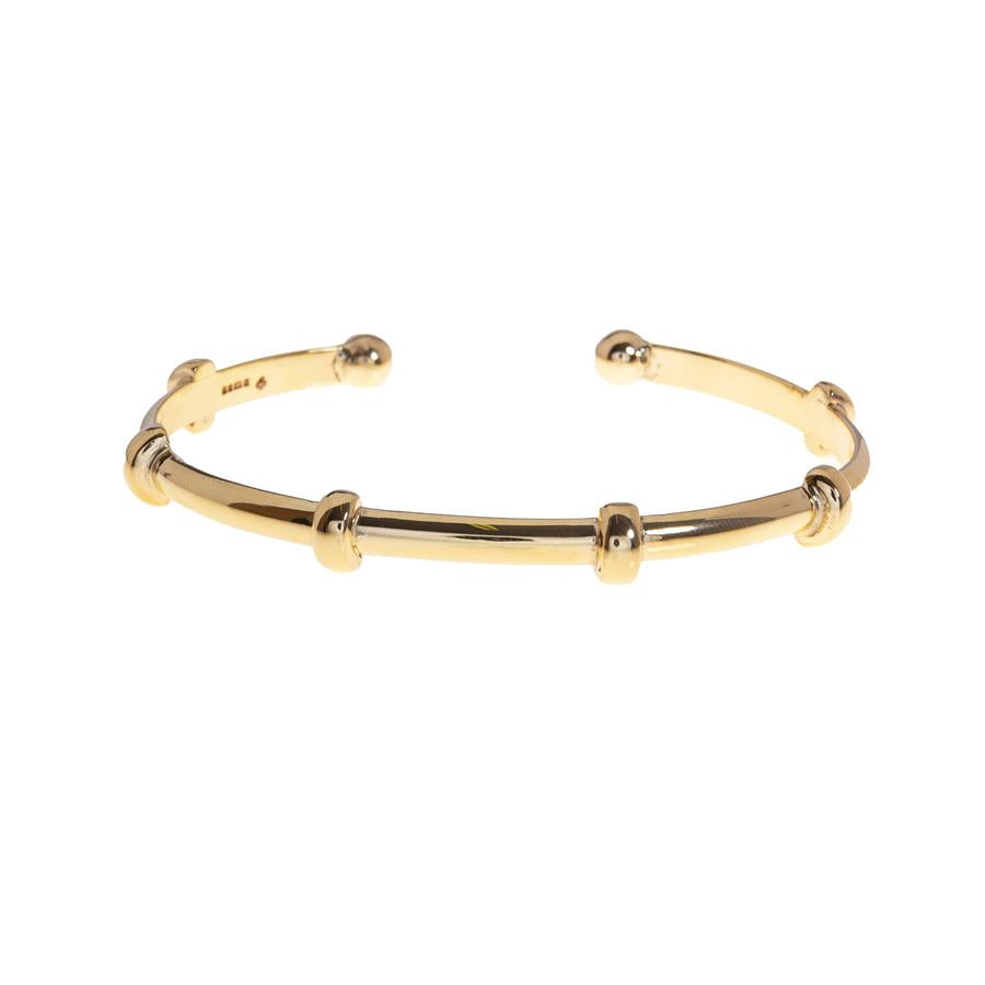 Pre-Owned Ladies Nodules Torque Gold Bangle