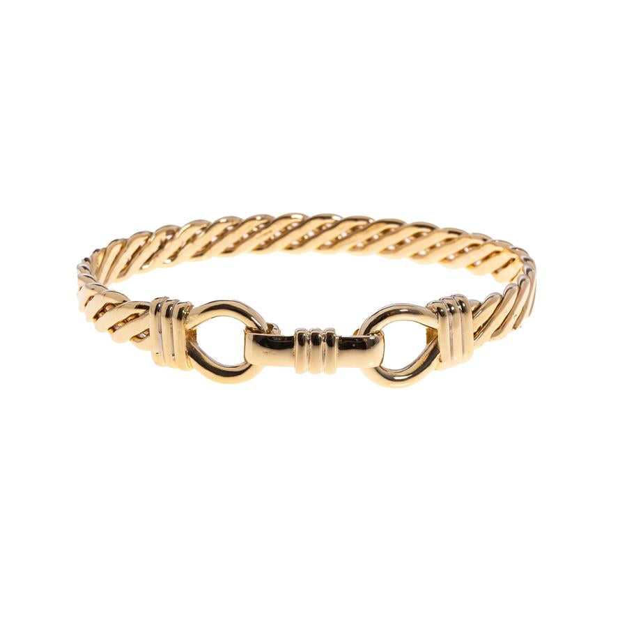 Pre-owned Ladies Twist Yellow Gold Bangle