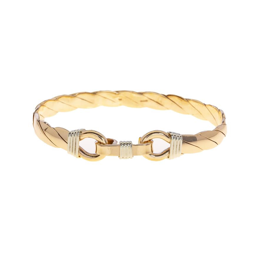 Pre-owned Double Noose Hook Closure Bangle