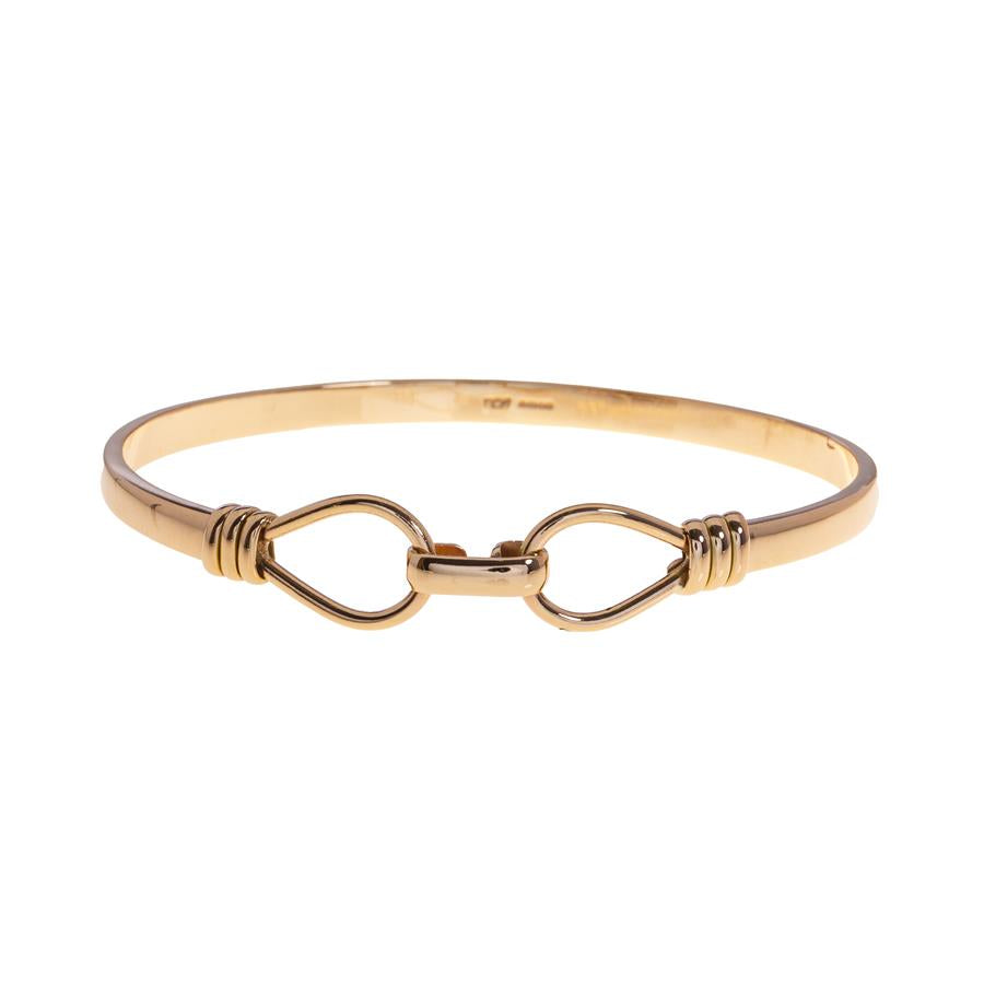 Pre-owned Double Noose Hook Polished Bangle
