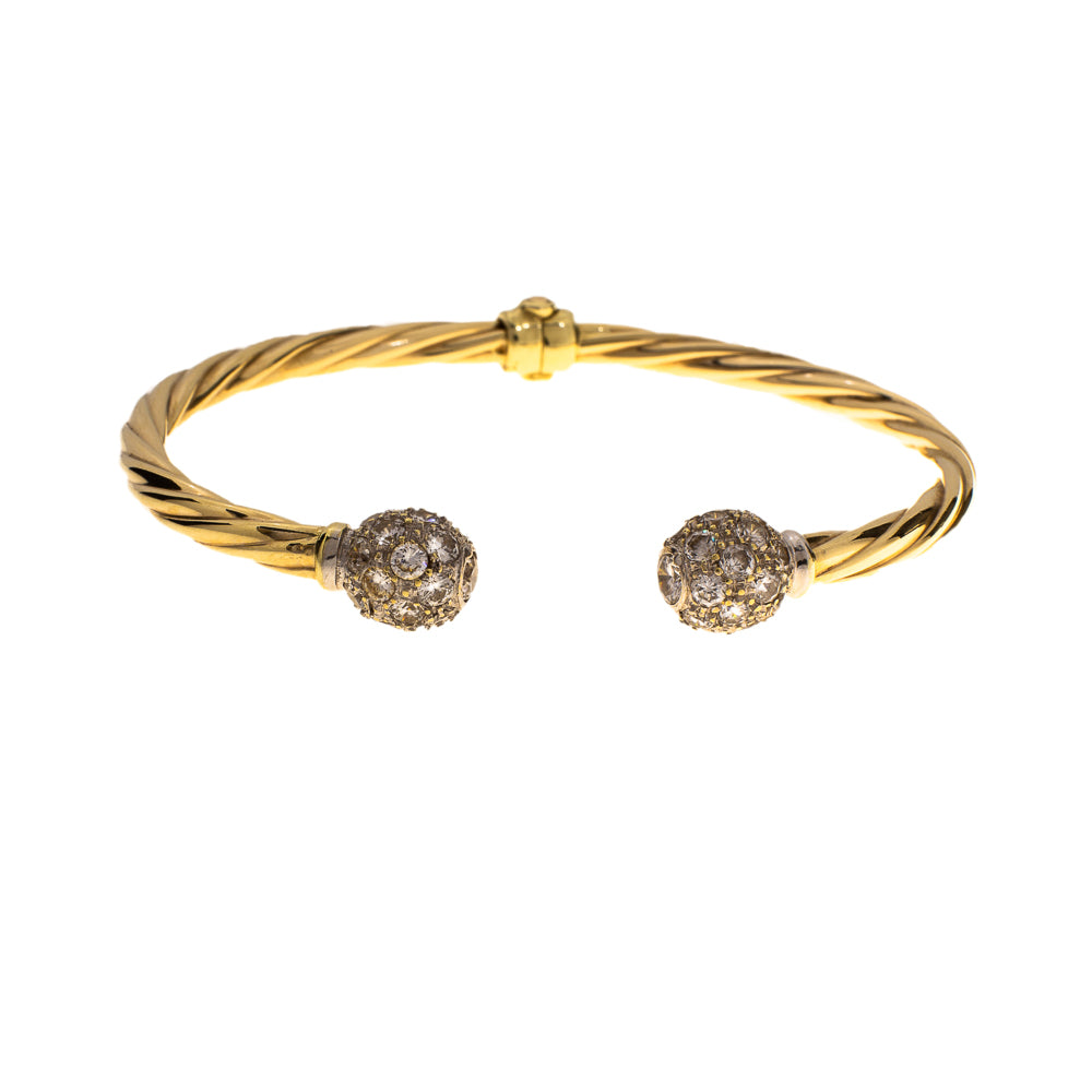 Pre-Owned Gold Torque Style Women Bangle