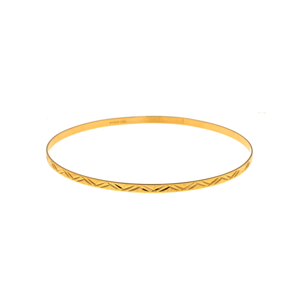 Pre-Owned 9ct Gold Double Arrow 3mm Love Bangle