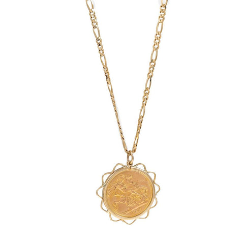 Pre-Owned 1966 Full Sovereign 9ct Gold Necklace