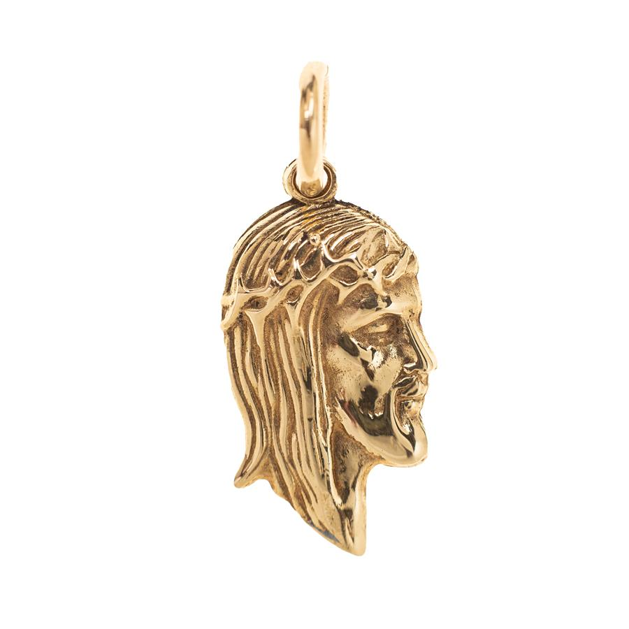 Pre-Owned 9ct Gold Jesus Head Pendant