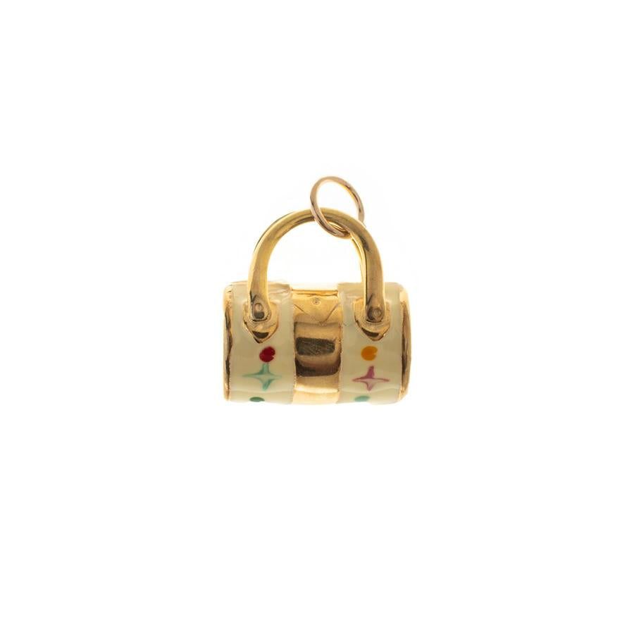 Pre-Owned 9ct Hollow Enamel Handbag Charm