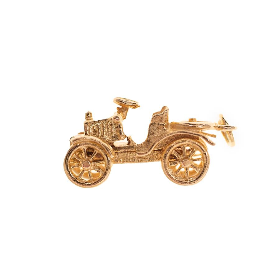 Pre-Owned 9ct Gold Children Vintage Car Charm