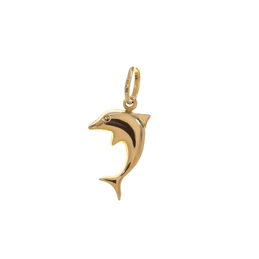 Pre-owned 9ct Gold Hollow Dolphin Female Charm