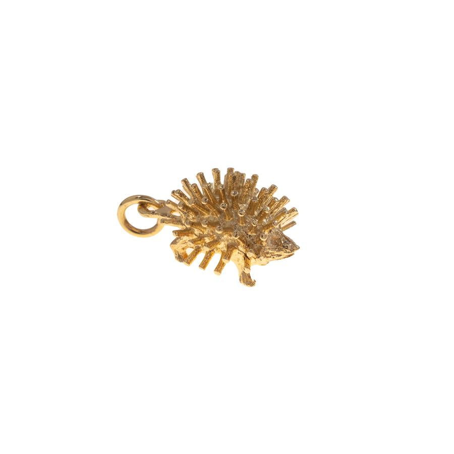 Pre-owned Yellow Gold Hedgehog Female Charm