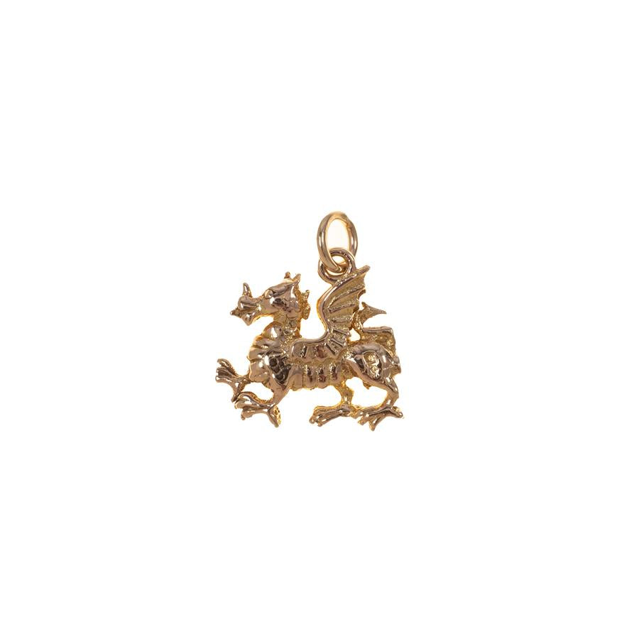 Pre-owned Yellow Gold Wyvern Charm
