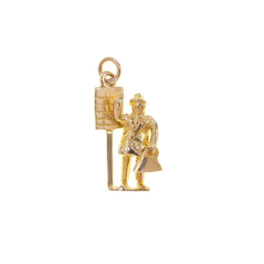 Pre-Owned Yellow Gold Tic Tac Man Charm
