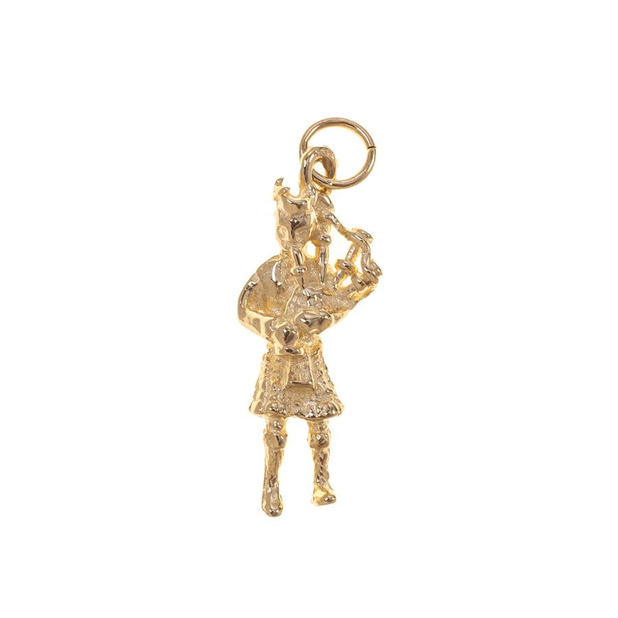 Pre-owned Scotsman Playing Bagpipes Charm