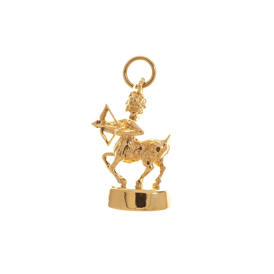 Pre-owned Female Yellow Gold Sagittarius Charm