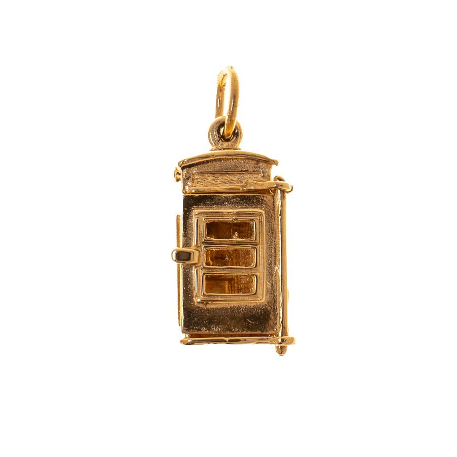 Pre-Owned 9ct Gold Telephone Box Charm