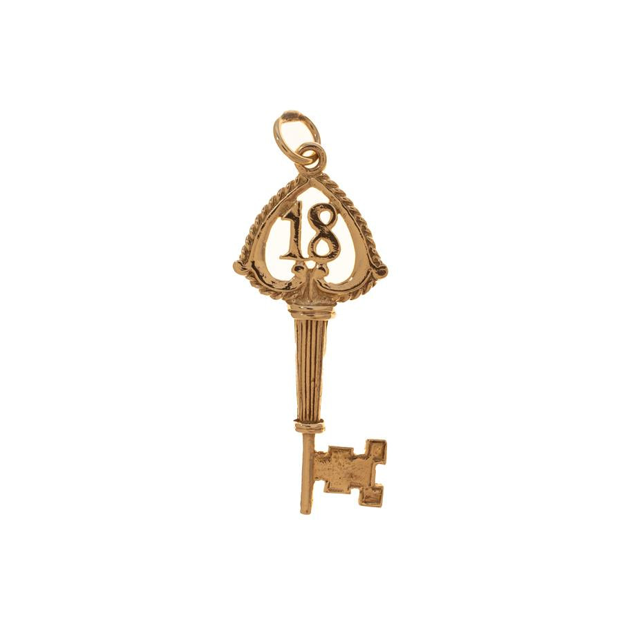 Pre-Owned 9ct Gold 18 Key Charm