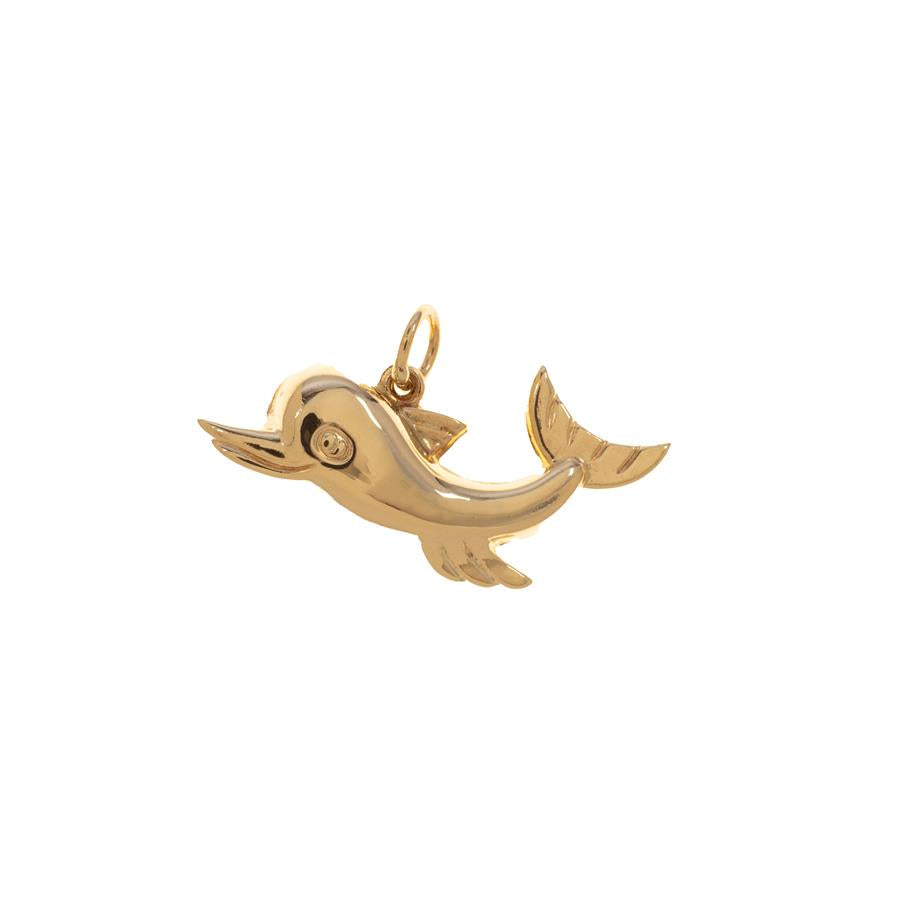 Pre-Owned 9ct Gold Hollow Dolphin Charm