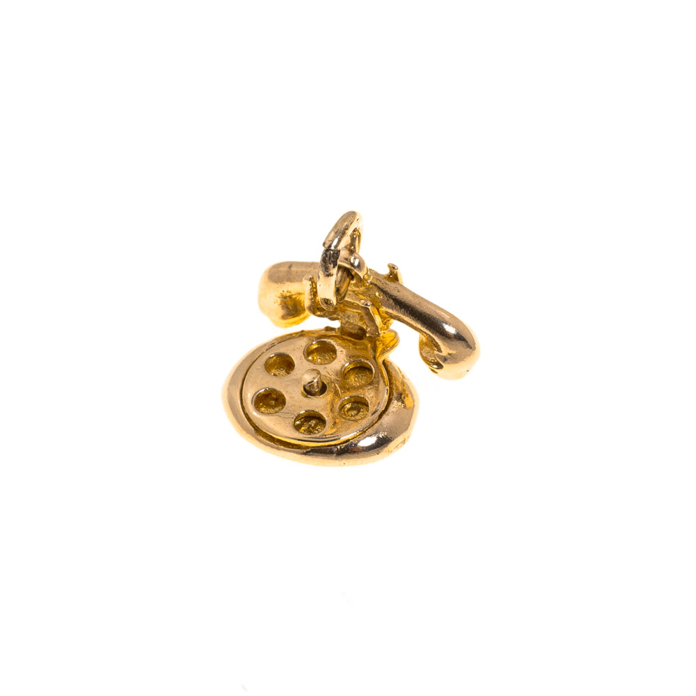 Pre-Owned 9ct Gold Old Fashion Telephone Charm