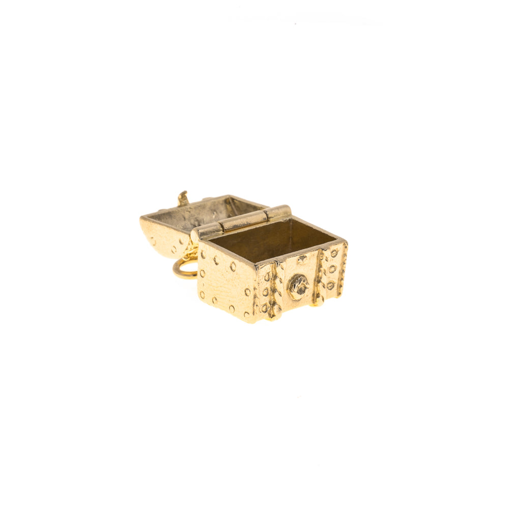 Pre-Owned Gold Unisex Treasure Chest Charm