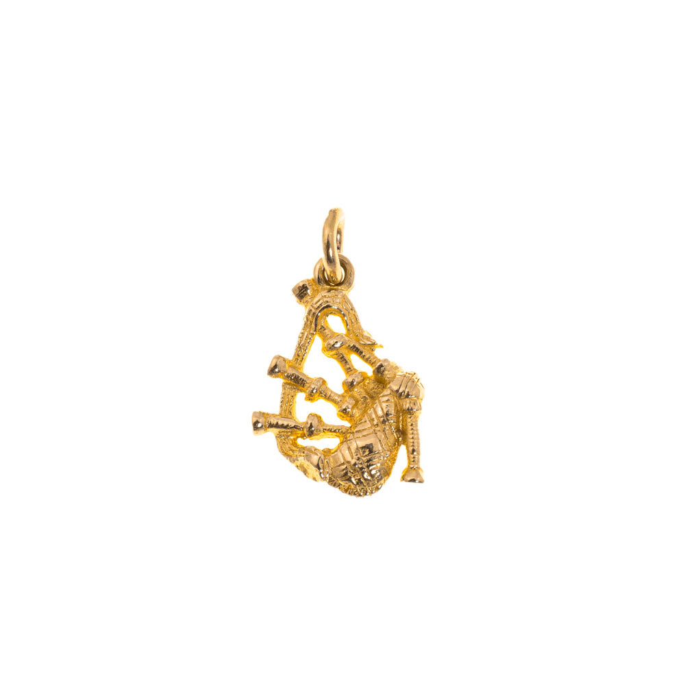Pre-Owned 9ct Gold Unisex Bagpipes Charm
