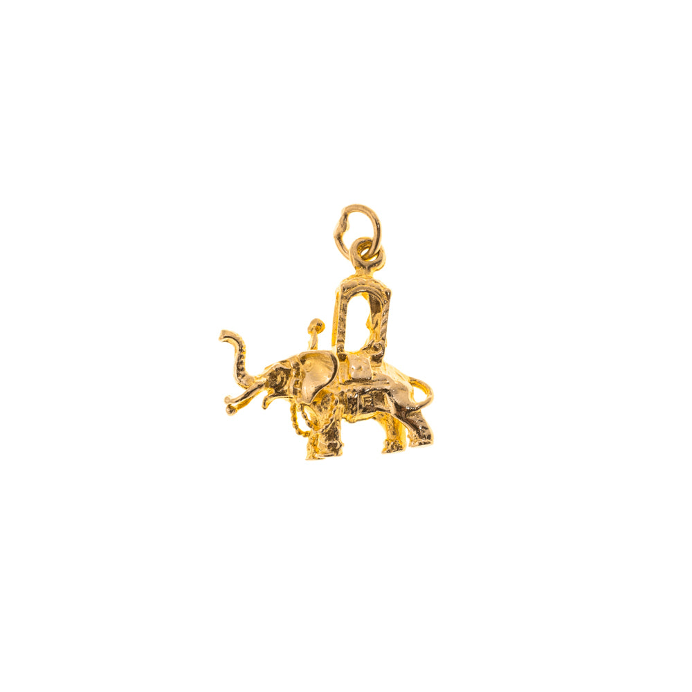 Pre-Owned Gold Elephant With Howdah Charm