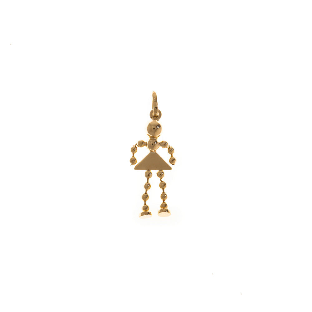 Pre-Owned 9ct Gold Bobble Lady Charm