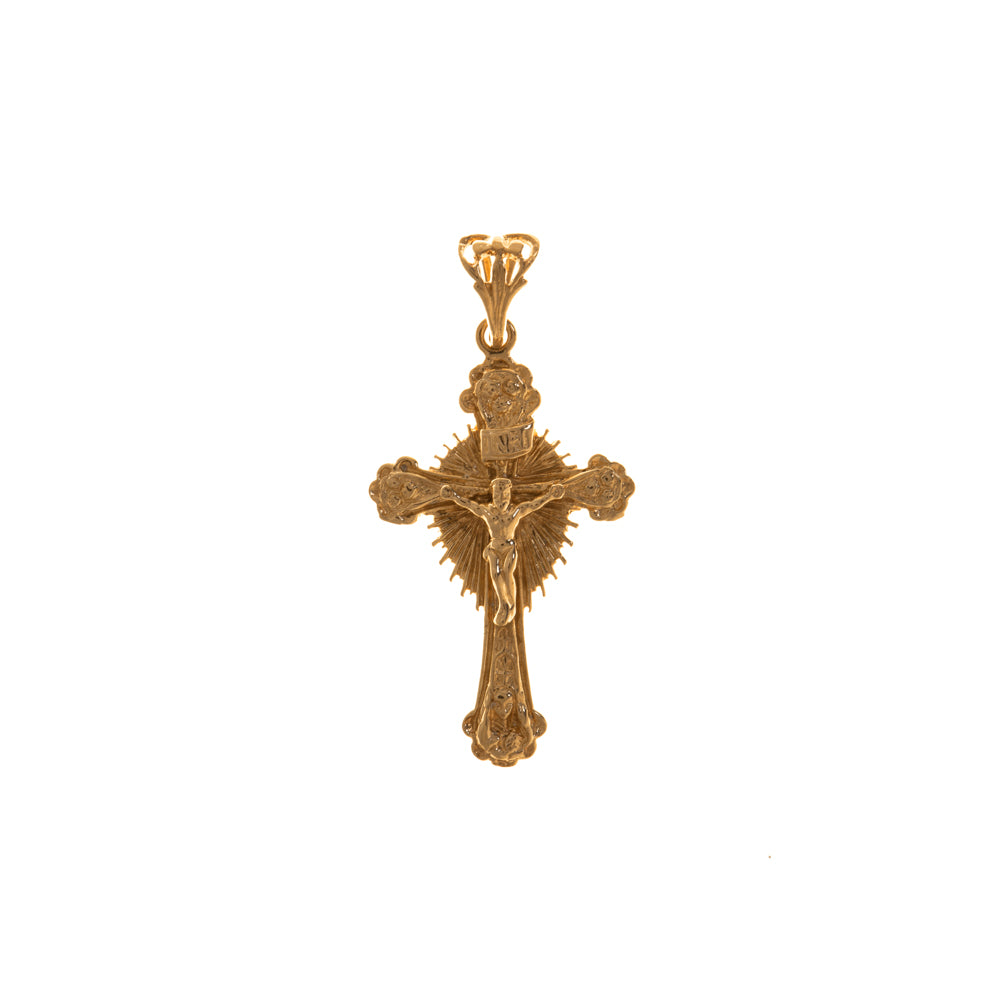 Pre-Owned 9ct Gold Arm Of Christ Crucifix Pendant