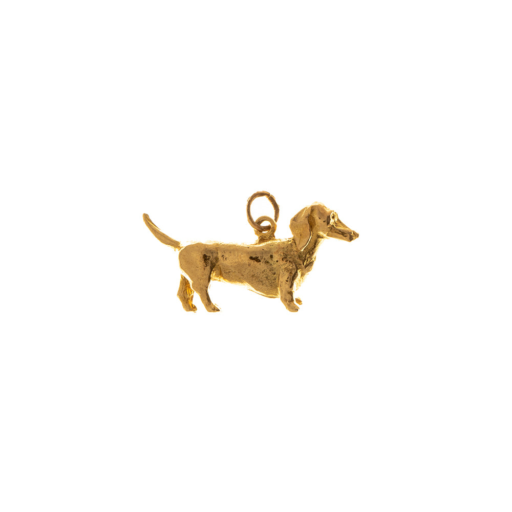 Pre-Owned 9ct Gold Dachshund Charm