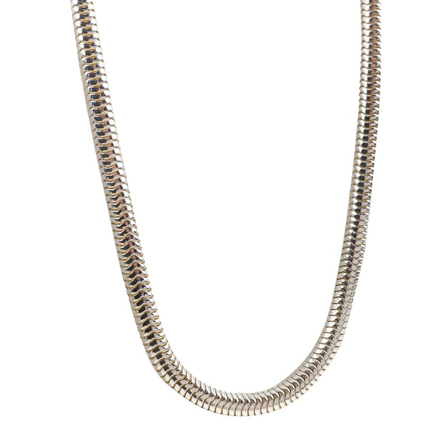 "Pre-Owned Silver 18"" Hollow Snake Necklace"