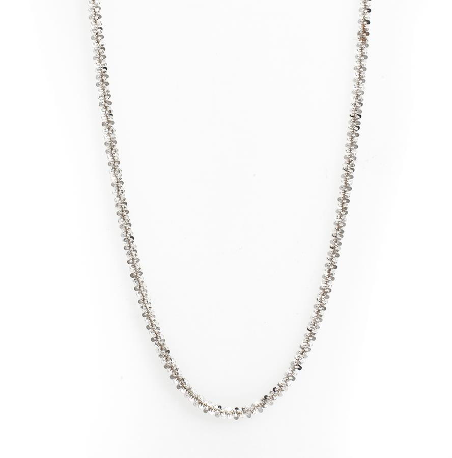 "Pre-Owned Silver 35"" Fancy Twist Chain Necklace"