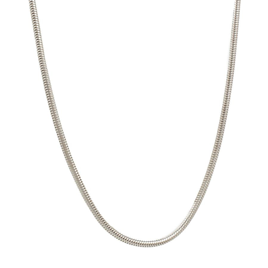 "Pre-Owned Silver 20"" Snake Necklace"
