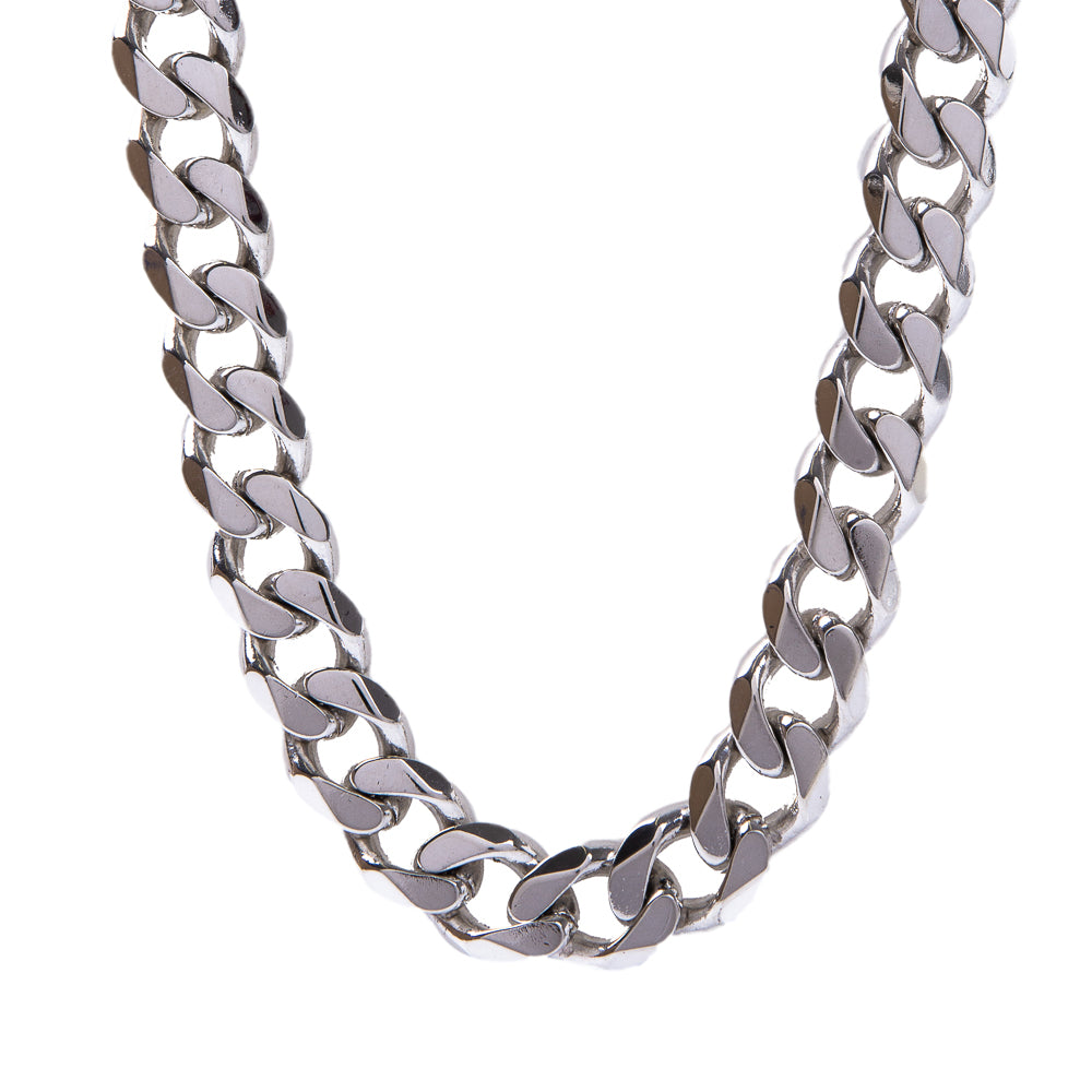 Pre-Owned Sterling Silver Curb Chain Necklace