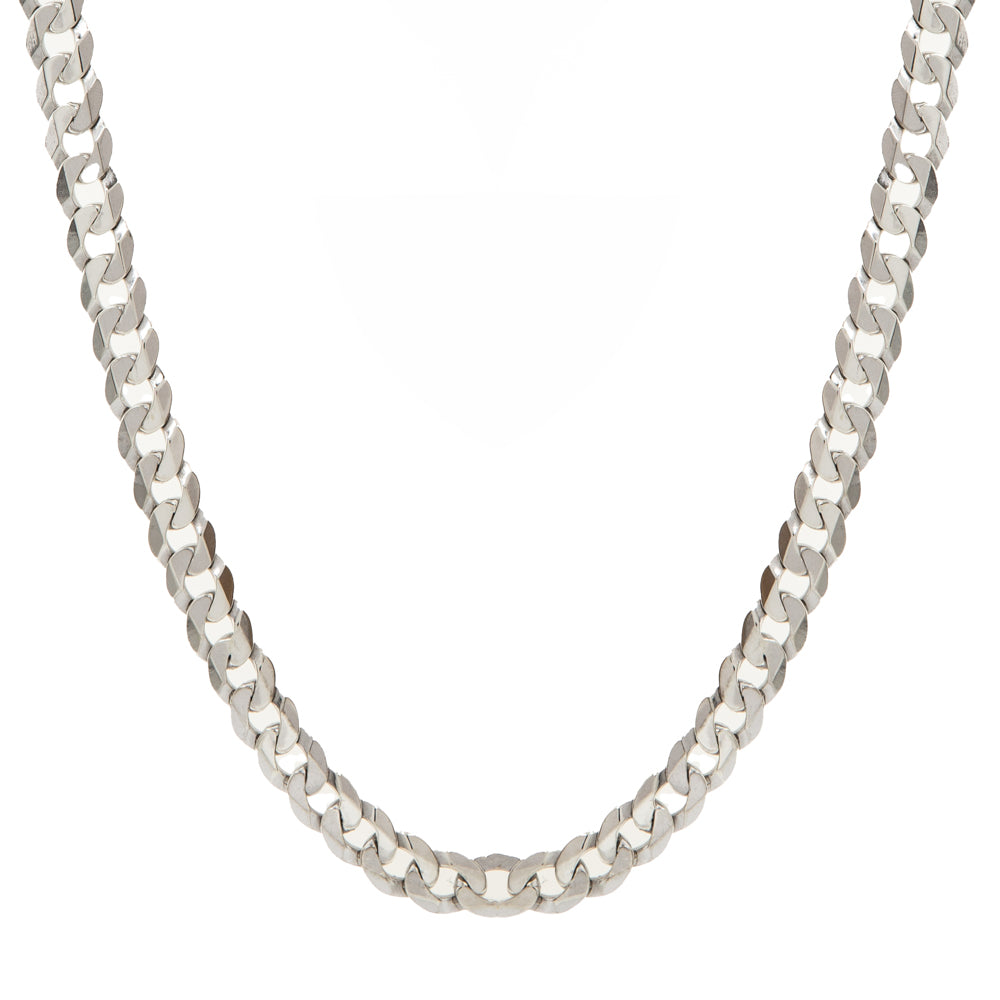 "Pre-Owned Silver 22"" 6mm Flat Round Curb Necklace"