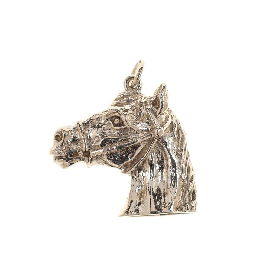 Pre-Owned Silver Horse Head Charm