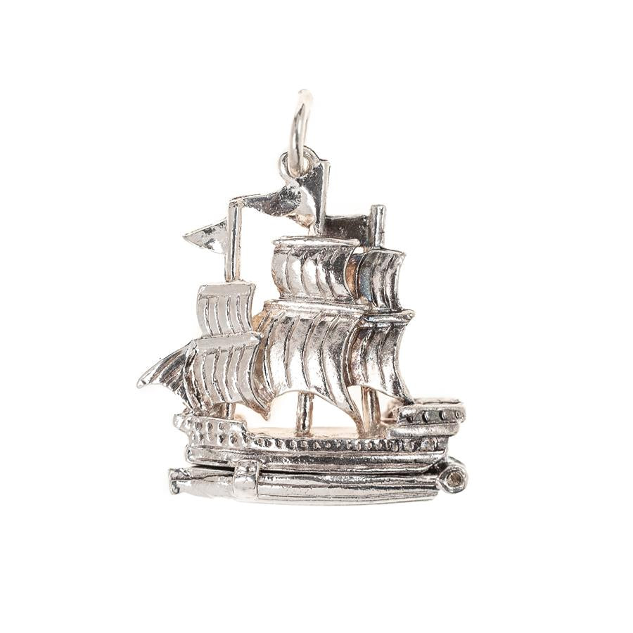 Pre-Owned Silver Ship Charm