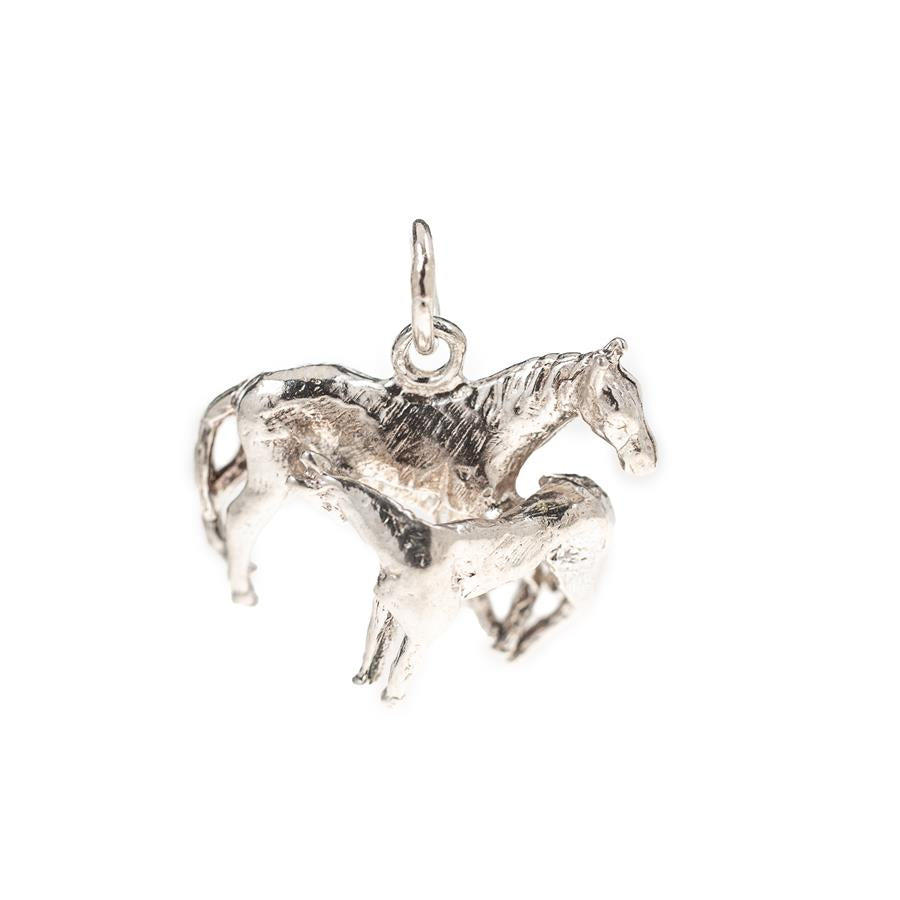 Pre-Owned Silver Horse & Foal Charm
